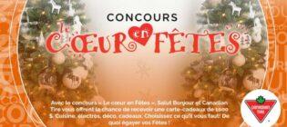 Concours Canadian Tire Salut Bonjour Le cœur en Fêtes