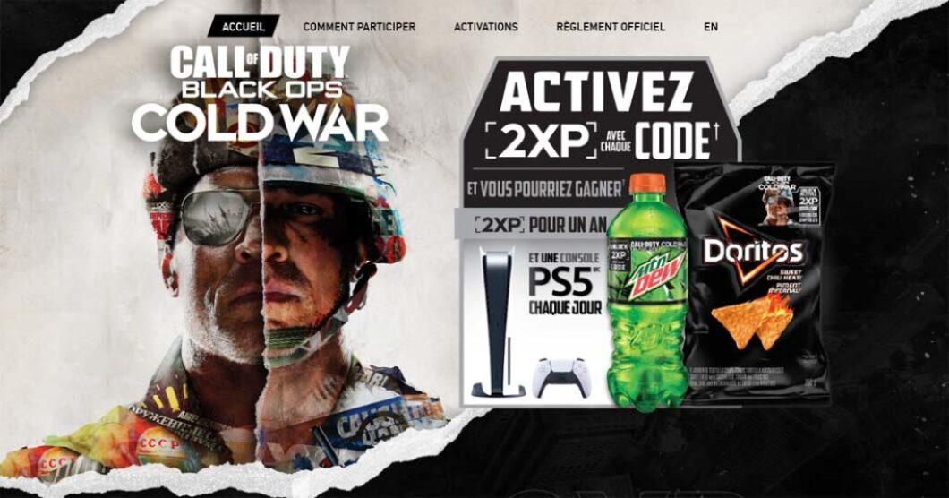 Concours Dew et Doritos Call of Duty: Black Ops War