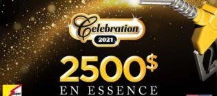 Concours Célébration gagnez 2 500 $ d'essence