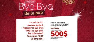 Concours Radio‐Canada Bye Bye de la pub