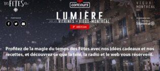 Concours Radio-Canada Ici Les Fêtes Lumière sur les vitrines du Vieux-Montréal