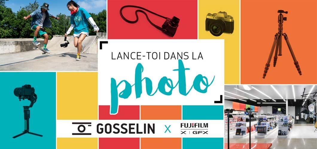 Concours Gosselin t'offre le kit Fujifilm parfait pour t'initier à la photographie