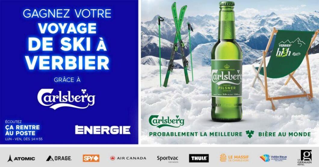 Concours Énergie Gagnez votre voyage de ski à Verbier grâce à Carlsberg