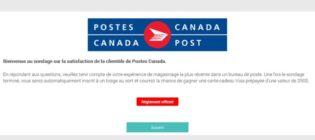 Concours sondage de satisfaction de la clientèle de la Société canadienne des postes