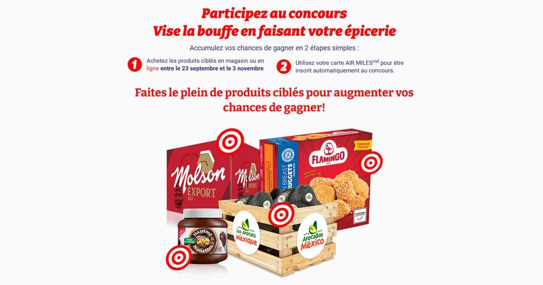 Concours IGA Vise la bouffe produits participants