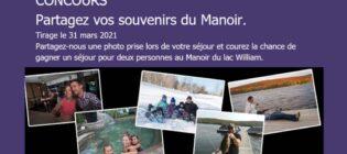 Concours Partagez vos souvenir du Manoir du lac William
