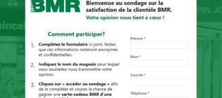 Concours Sondage sur la satisfaction de la clientèle de BMR