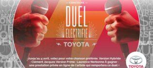 Concours TVA Star Académie Duel électrifié Toyota