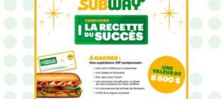 Concours TVA et Subway La recette du succès