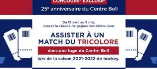 Concours Rona Assister à un match du tricolore