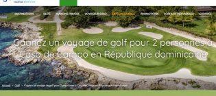 Concours Voyages Gendron Voyage de golf