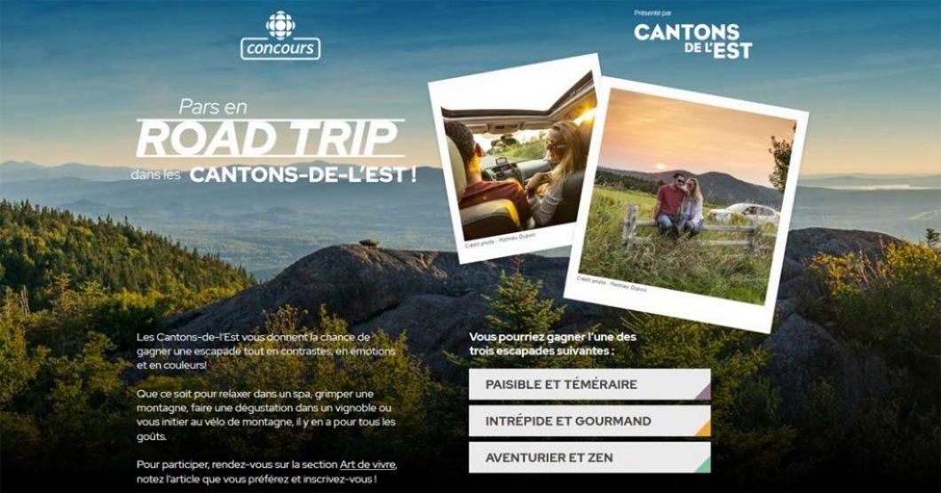 Concours Radio-Canada Pars en road trip dans les Cantons-de-l'Est