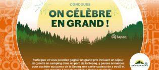 Concours SB Privilèges Ensemble, célébrons 20 ans de plein air avec Atmosphere