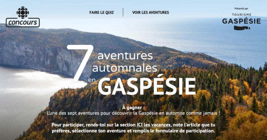 Concours Radio-Canada 7 aventures automnales en Gaspésie