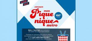 Concours Sucré salé Mon pique-nique Métro