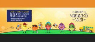 Concours Partagez le soleil des Collations aux fruits Sunkist