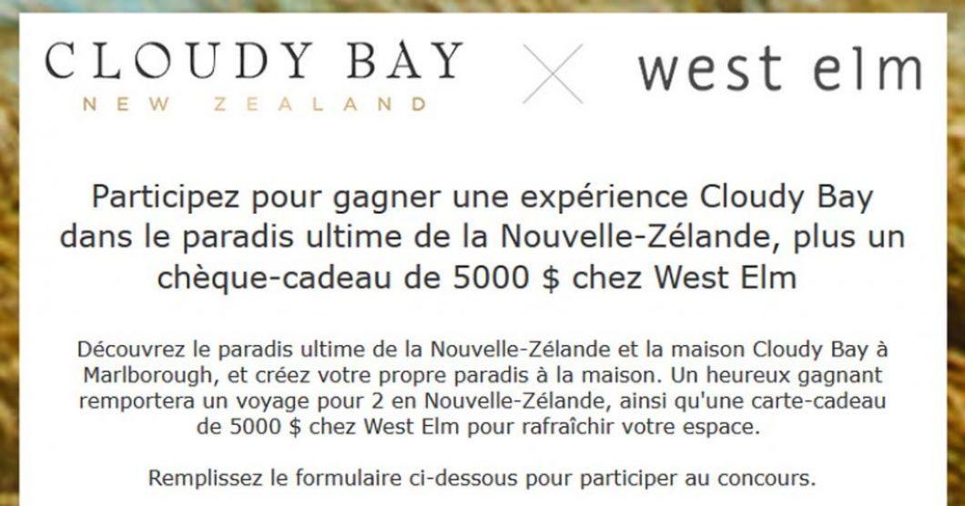 Concours Cloudy Bay X West Elm