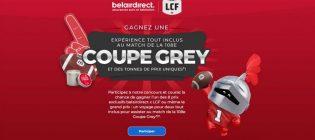 Concours BelairDirect Voyage au match de la Coupe Grey