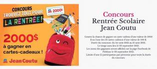Concours Jean Coutu Trouvez tout pour la rentrée