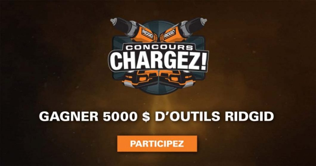 Concours Ridgid Chargez!