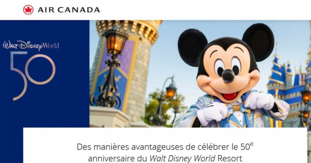 Concours Air Canada 50 prix magiques