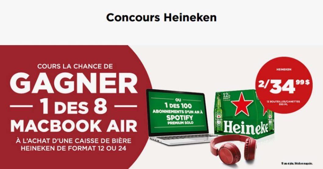Concours Heineken chez Couche-Tard