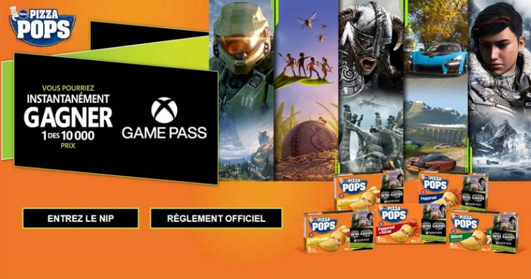 Concours General Mills Pizza Pops Xbox Game Pass