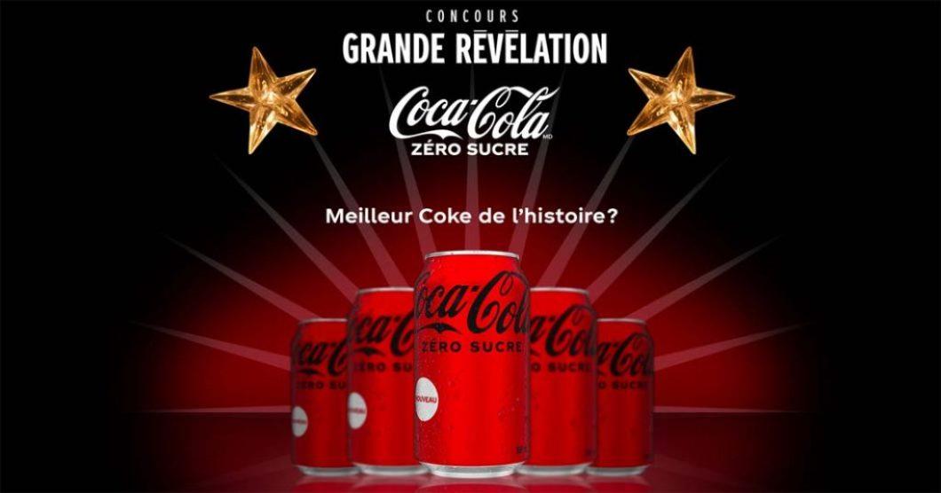 Concours Chanteurs masqués TVA Grande Révélation Coca-Cola zéro sucre