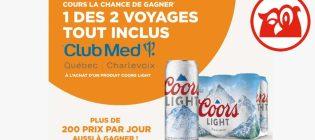 Concours Couche-Tard Pars en voyage grâce à Coors Light