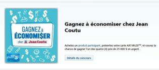 Concours Jean Coutu Gagnez à économiser