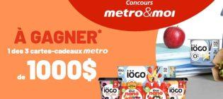 Concours Metro et IÖGO Gâtez la famille avec des collations savoureuses