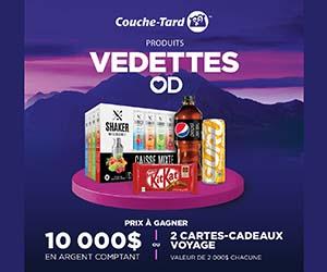 Dernière chance pour le concours Les produits vedettes Couche-Tard